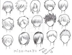 anime boys hairstyles...wonder if any of these would work in real life for guys...