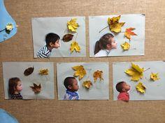 Idea tapa álbum escolar otoño. Portada escolar con foto de los alumnos