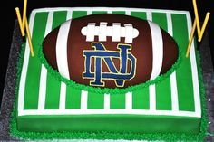 Notre Dame Football Groom's Cake   ............. I'm not ENTIRELY joking about this. Can you imagine if I got this for him as a surprise? He'd die.