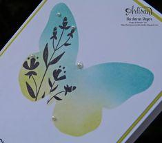 Schablonentechnik - Schmetterlingsgruß & Flirty Flower