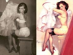 "What did the real women who posed for the iconic pin-up paintings of the look like? As a series of ""before and after"" images that appeared last year and placed pin-up mastermind Gil Elvgren's finished pictures side-by-side with the photographs…"