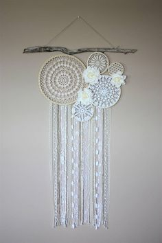 Dream Catcher Wall Hanging-Large Dreamcatcher-Doily Wall