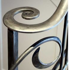 The volute is shaped and forged whilst the metal is hot