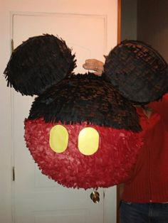 Piñata de Mickey Mouse fácil de hacer en casa!