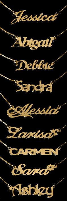 cool Gold Plated Name Necklaces - Onecklace