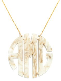 Large Monogram Necklace - BaubleBar