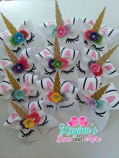 www.facebook.com/groups/kayinnsbows  Unicorn cheer bows