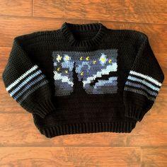 Diy Crochet Projects, Crochet Crafts, Knitting Projects, Cute Crochet, Crochet Hooks, Knit Crochet, Crochet Jumper, Crochet Designs, Free Crochet Sweater Patterns