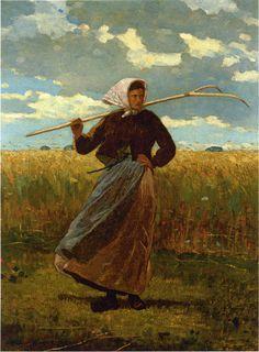 HOMER, Winslow, (1836-1910) American artist: --  'The Return of the Gleaner'.