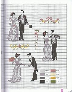 Elegant Wedding Cross Stitch- small enough to make as ornament for year together as a married couple Cross Stitch Love, Cross Stitch Charts, Cross Stitching, Cross Stitch Embroidery, Wedding Cross Stitch Patterns, Crochet Cross, Retro, Blackwork, Needlepoint