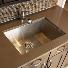 "28"" x 18"" Zero Radius Large Single Bowl Undermount Kitchen Sink for Sale | AllModern"
