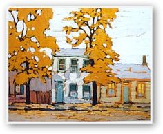 Lawren Harris - Early Houses - Group Of Seven Print Group Of Seven Art, Group Of Seven Paintings, Paintings I Love, Fall Paintings, Emily Carr, Canadian Painters, Canadian Artists, Landscape Art, Landscape Paintings