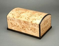 Beautiful burl jewelry box
