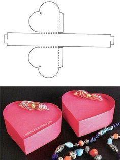 moldes para fazer caixinhas de lembrancinhas em forma de coração