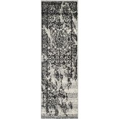 """Safavieh Adirondack Collection ADR101A Silver and Black Oriental Vintage Runner (2'6"""" x 12')"""