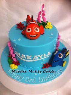 Nemo and Dory Cake (1 of 3)  www.facebook.com/MardieMakesCakes