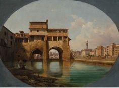 Lusignano de Cuppis – Veduta delle Mulina di San Niccolò, ca. 1865