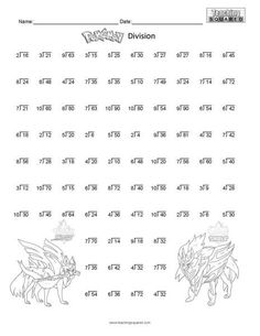 Amazing pokemon math coloring book