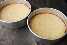 9. The pistachio cake recipe makes two 9-inch cakes. These are not light, fluffy, airy, spongy cakes. Rather, they are closer in density to a quick bread which makes sense considering all of the nut paste and ground nuts. My cakes always cave a little bit (or a lot) in the center because of my altitude. For the almond cake, I planned on only one layer sandwiched between the two pistachio cake layers.