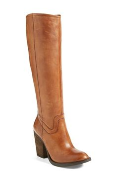 Free shipping and returns on Steve Madden 'Carrter' Knee High Leather Boot (Women) at Nordstrom.com. The knee-high Carrter wears its Western influence well in smooth, burnished leather with a rounded toe and a stable, stacked heel.