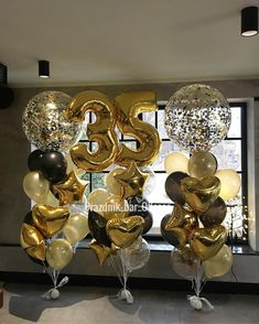 Has the words prom 40th Birthday Parties, Birthday Balloons, Birthday Party Decorations, 50th Wedding Anniversary, Anniversary Parties, Fete Julie, 35e Anniversaire, Indoor Birthday, Balloon Bouquet