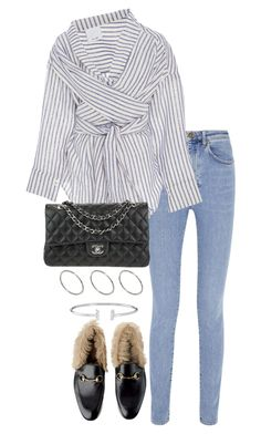 """""""Untitled #3448"""" by theeuropeancloset on Polyvore featuring Yves Saint Laurent, Acler, Chanel and ASOS"""