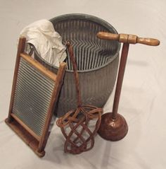 Old Fashioned Clothes Washer Board