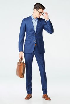 Blue Suit Blue Shirt, Dark Blue Suit, Blue Suit Men, Blue Suits, Suits For Guys, Cool Suits, Blue Suit Wedding, Wedding Suits, Mens Fashion Suits