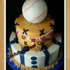 Baseball Theme Birthday Cake