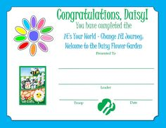 Girl Scout Daisy Activities, Daisy Girl Scouts, Scouting, Congratulations, Flowers, Florals, Flower, Blossoms