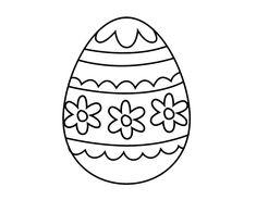 Dibujo de Huevo de Pascua floral para colorear