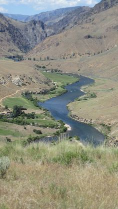 The view from the top of a mountain by The Flying B Ranch (off The Middle Fork River in Idaho).