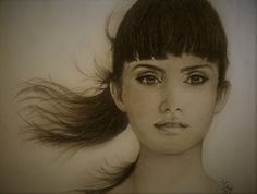 Pencil drawing/Penelope Cruz
