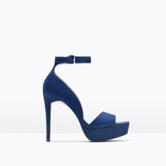 LEATHER PLATFORM HIGH HEELED SANDAL-View all-Shoes-WOMAN | ZARA United States