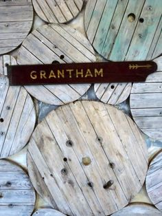 GRANTHAM Railway Board - Stock - Woody's Antiques, Decorative Furniture and Objects