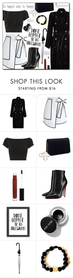 """""""I'm happiest when its raining!😄"""" by ela79 ❤ liked on Polyvore featuring Ghost, Chicwish, Helmut Lang, Miss Selfridge, Anastasia Beverly Hills, Christian Louboutin, Americanflat, Fulton, rainyday and polyvorecontest"""