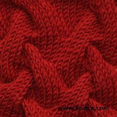 Right side of knitting stitch pattern – Cable 7