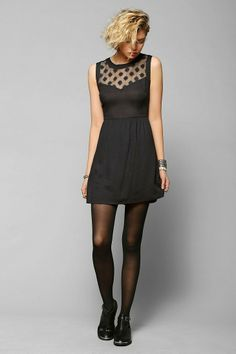 Pins And Needles Embroidered Mesh-Inset Dress #urbanoutfitters