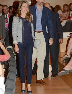 Navy -  Princess Letizia of Spain -  summer looks