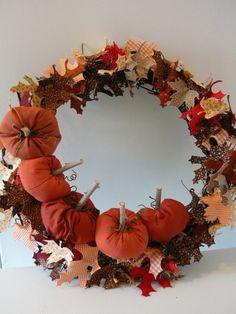 Fall Wreath | AllFreeSewing.com