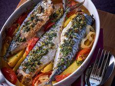 Avec les lectrices reporter de Femme Actuelle, découvrez les recettes de cuisine des internautes : Maquereaux et pommes de terre fondantes au four