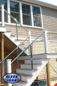 "Olson Iron can design your stair railing with the exceptional look of stainless steel, STAINLESS STEEL RAILING ""Another Awesome Job by Olson Iron"" #olsoniron #LASVEGAS"