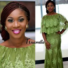 💚 caped look is gorg! African Lace Styles, African Print Dresses, African Dresses For Women, African Print Fashion, African Wear, African Attire, African Fashion Dresses, African Women, African Prints