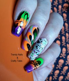 Trendy Nails & Crafty Tales: MoYou London and Born Pretty Halloween Mani