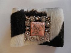 Black White Hair on COWHIDE Pink Silver CONCHO by DESIGNBYMONNY, $19.98