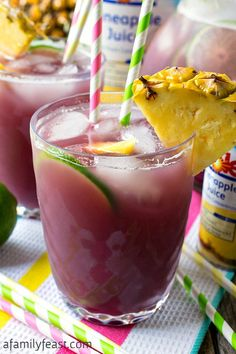 Pineapple Lime Rickey Punch - A Family Feast