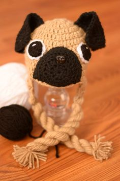 Free Crochet Pattern For Pug Dog : 1000+ images about Hats on Pinterest Crochet hats, Hat ...