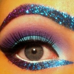 glitter. I wanna do this for stage makeup some time!