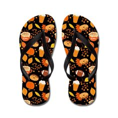 Fall Football Pumpkin Spice Pattern on CafePress.com Personalized Flip Flops, Decorating Flip Flops, Fall Football, Rubber Flip Flops, Pumpkin Spice Coffee, Fall Patterns, Flip Flop Sandals, Flipping, Color Combinations
