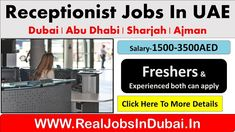 Receptionist Jobs In Dubai - UAE 2021 Dubai Hotel, Dubai Uae, Dubai Work Visa, Airline Jobs, Medical Receptionist, Amazon Work From Home, Amazon Jobs, Hotel Jobs